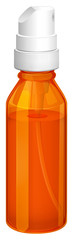 An orange spray bottle