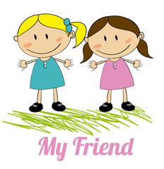 kids friends design