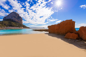 Calpe playa Cantal Roig beach near Penon Ifach Alicante