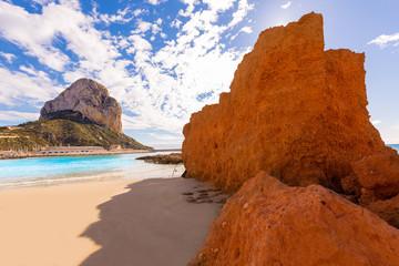 Calpe playa Cantal Roig beach near Penon Ifach Alicante