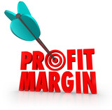 Profit Margin Arrow in Target Competing Business Growth Money In