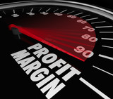 Profit Margin Speedometer Measuring Rising Income Net Money Earn