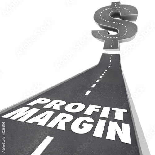 Profit Margin Road Going Up Increasing Earnings Net Income Money
