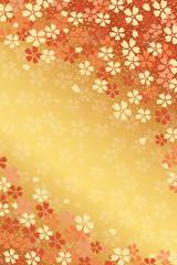 桜吹雪の背景