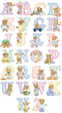 Teddy Tot Alphabet - With Bears