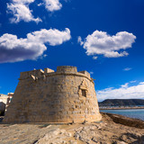 Moraira Castle in teulada beach at Mediterranean Alicante