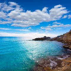 Moraira Cala Andrago beach in Teulada Alicante