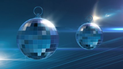 Mirror Balls Blue Background