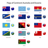 flags of continent australia and oceania