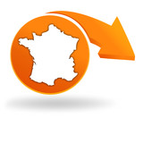 fabriqué en france sur bouton orange