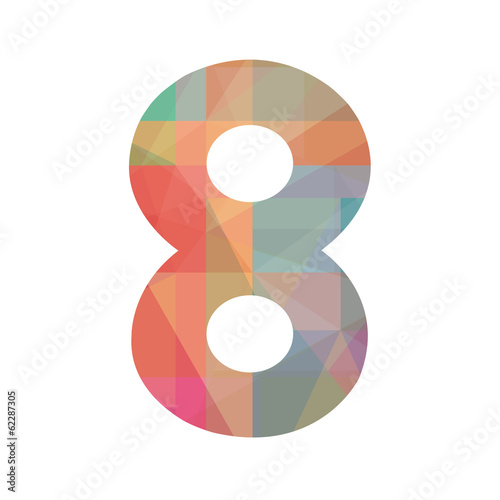 Colorful number eight