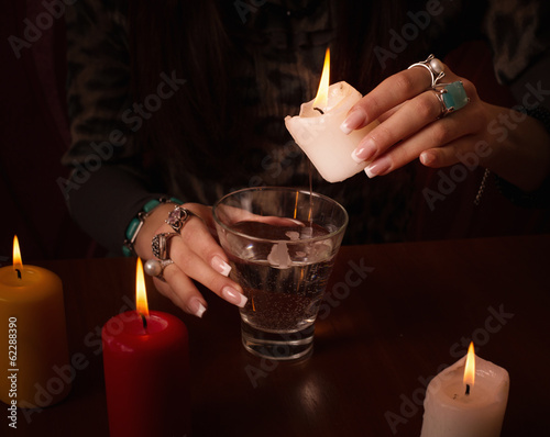 Divination with candle