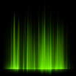 Green northern lights, aurora borealis. EPS 10