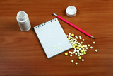 Writing Pad and Pills