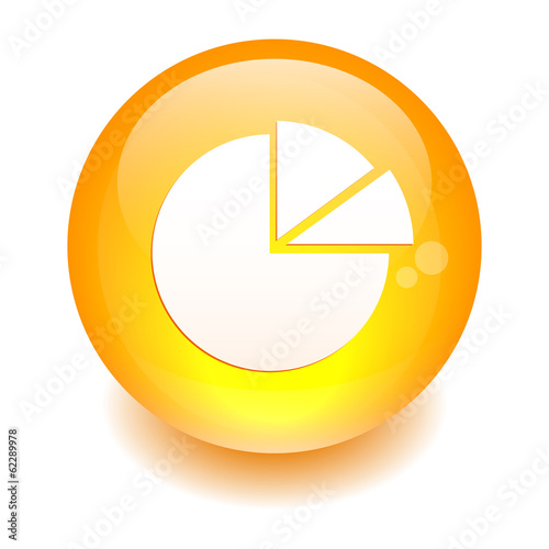 bouton internet graphique icon diagramme orange