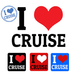 I love cruise sign and labels