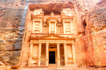 Al Khazneh is one of the most elaborate temples in Petra, Jordan