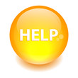 bouton internet help icon orange
