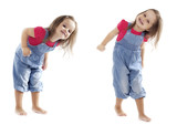 Smiling Dancing Toddler Girl - Stock Image