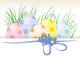 Eggs with dots,flower,background,present,free,vector