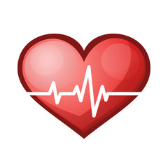 Heart beat rate icon, healthcare vector illustration