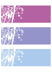 set background springtime,vector,birds,branch,blossoms