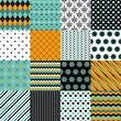 Seamless pattern background big set.