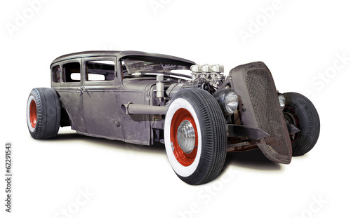 Foto op Plexiglas Vintage cars Old Rusty Rat Rod