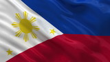 Flag of Philippines waving in the wind - seamless loop