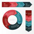 Process chart module. Infographics.