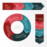 Fototapety Process chart module. Infographics.