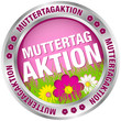 "Button ""Muttertagaktion"" Blumen pink/silber"