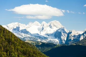 view to Dachstein from the west, Upper Austria-Styria, Austria