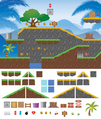 Platform Game Tropical