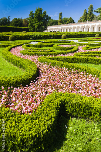 Flower garden of Kromeriz Palace, Czech Republic