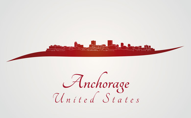 Anchorage syline in red