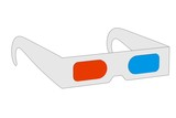 cartoon image of stereoscopic glasses