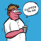 Coffee to go. Cartoon