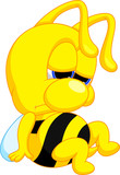 Sad cartoon bee