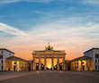 canvas print picture - Berlin, Brandenburg Gate at night