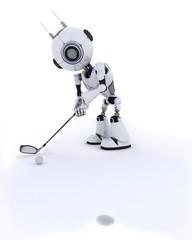 Robot playing golf