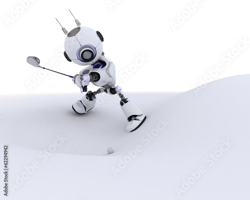 Robot playing golf