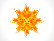 abstract artistic burning star