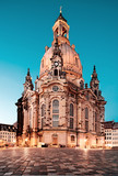 Dresden, Frauenkirche at night
