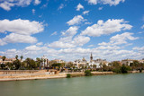 City of Seville and Guadalquivir River in Spain