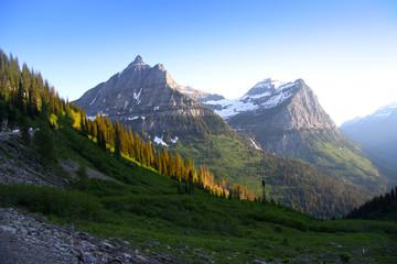 Glacier national park peaks