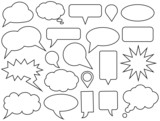 Fototapety Set of vector speech bubbles
