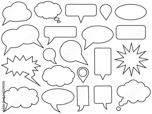 Fototapeta Set of vector speech bubbles