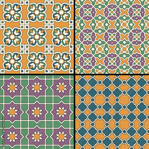 Seamlessly tiling retro patterns