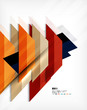 Geometric abstraction business poster